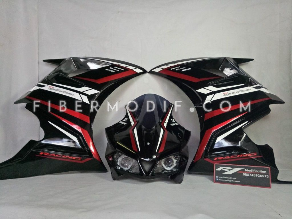 Fairing CBR250RR V1 Black Racing New Vixion