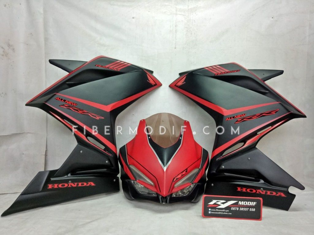 Fairing CBR250RR V2 Black Red Doff
