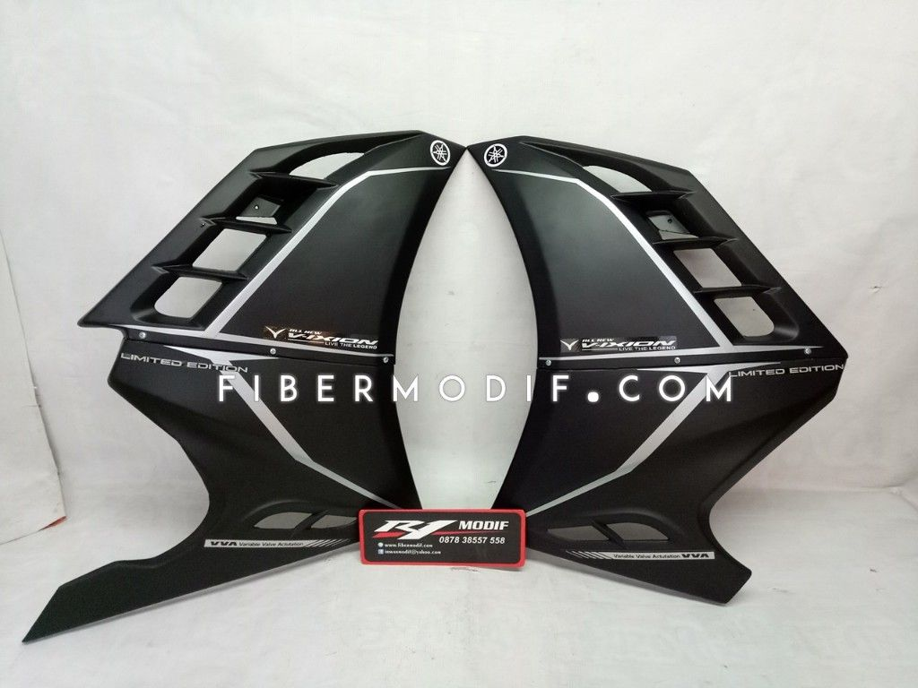 Half Fairing Vixion R - Hexagon Ultra Black