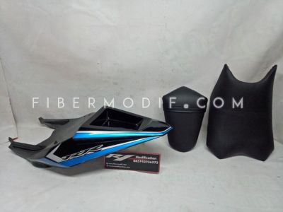 Body Belakang Verza model Custom Black Aqua Strip RR