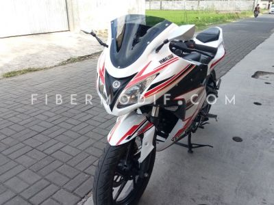 Byson pakai Full Fairing Ninja 250 Fuel Injection White Red Orange