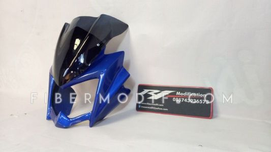 Cover Headlamp New Vixion Lightning Biru Gloss