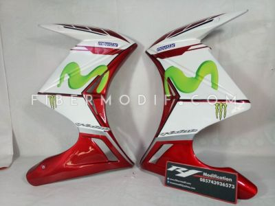 Half Fairing New Vixion Lightning Advance Model Z Red White Movistar
