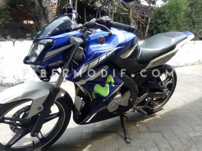 Half Fairing New Vixion Lightning Model Z Blue GP Movistar