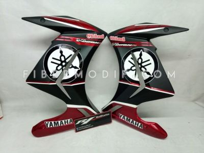 Half Fairing New Vixion Lightning Black Street Art Yamaha