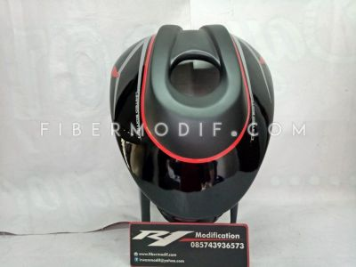 Kondom Tangki Old CB150R model Buntu Black Doff mix Gloss