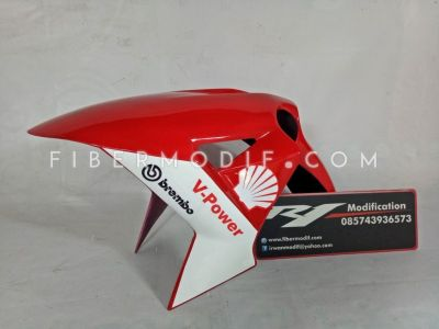 Slebor Depan H2 Universal Red White V-Power Brembo