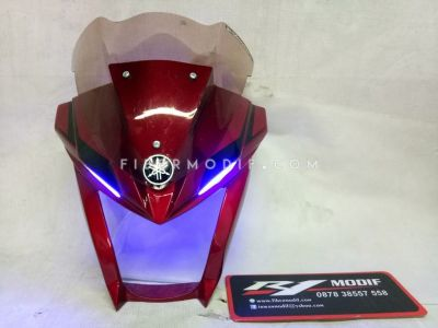 Cover Headlamp Vixion 2018 Red Gloss Blue LED