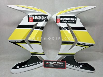 Half Fairing Vixion Advance Lightning White Black Yellow CUSTOM Decal