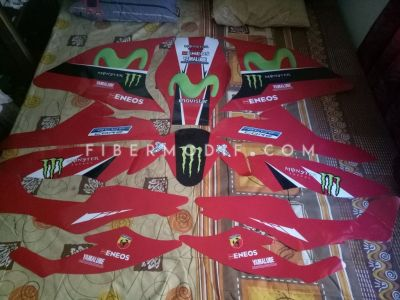 Custom Decal Red Movistar Full Sponsor