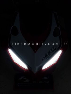 Topeng CBR150 Facelift model CBR250RR Red White Gloss FULL LED