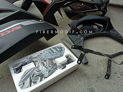 Fairing CBR250RR V2 - Red Black Racing Custom Nama Sendiri