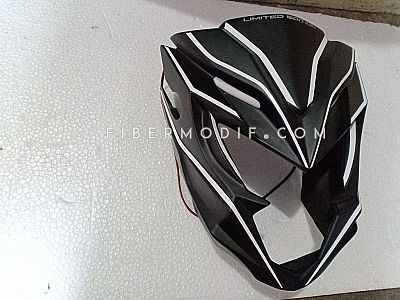 Cover Headlamp All New CB150R Black Doff White Lis
