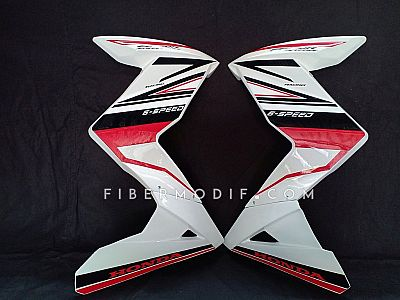 Fairing model Z untuk CB150R (2012-2014) White Gloss Black Red Striped