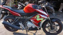 Half fairing new vixion Moviestar Edition terpasang merah movistar