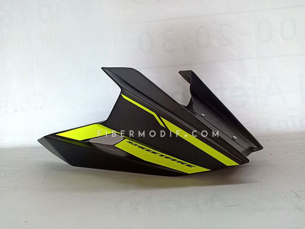 Undercowl CB150R New Facelift - Black Matte Yellow Lime Striped