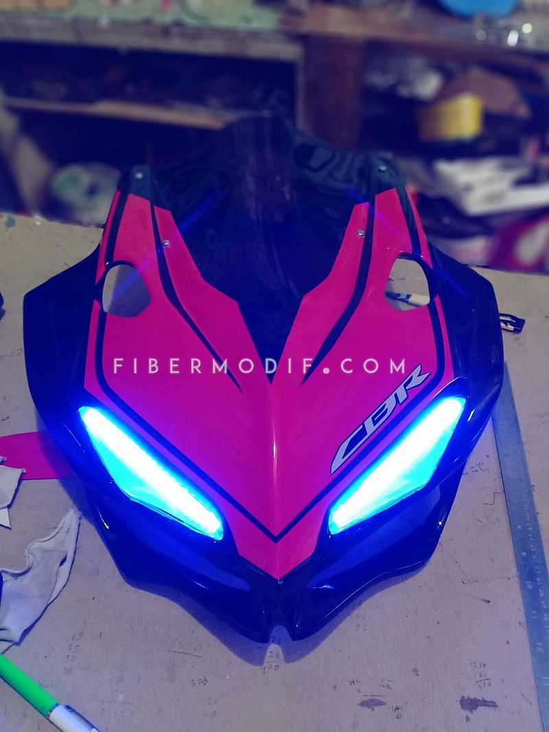 Cover Headlamp CBR150R K45N model CBR250RR - Black Gloss Red Shade