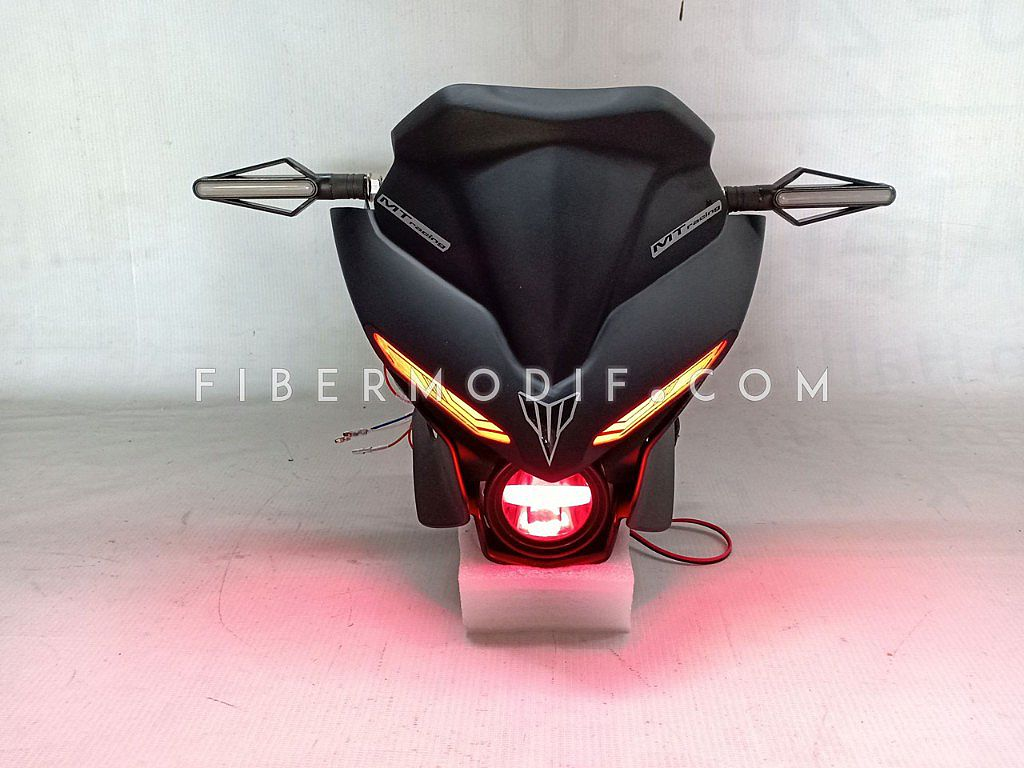 Headlamp Custom model MT25 - Black Matte MTracing
