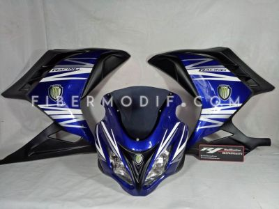 Fairing Ninja 250 FI Blue Racing Monster Energy