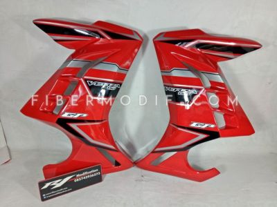 Half Fairing Verza model Ninja 250 FI Red Black Gray