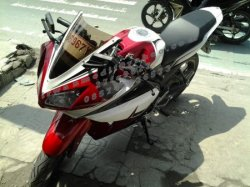 FULL FAIRING MODEL YZF TERPASANG DI NVL