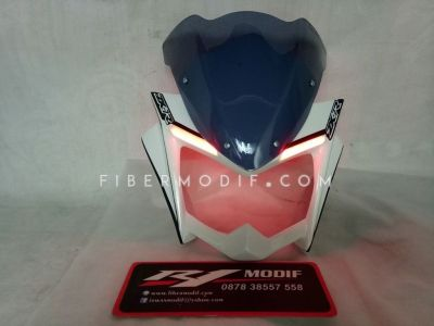 Cover Headlamp New Vixion Lightning Black White