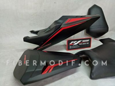 Body Belakang All New Vixion R Black Doff Dark Red Lis