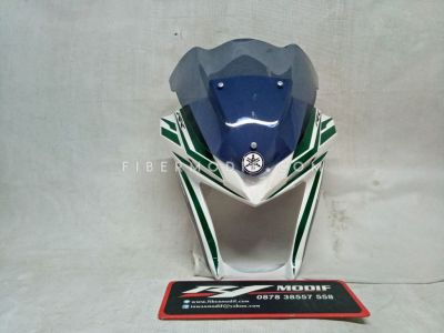 Cover Headlamp All New Vixion White Green Lis