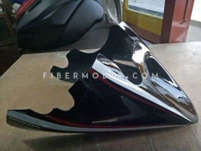 Cover Engine Universal Black Gloss Red-White Lis