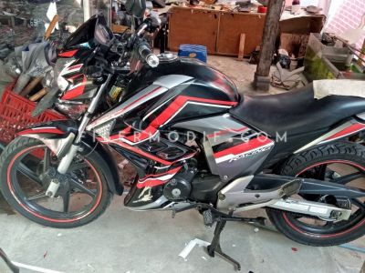 Half Fairing Mega Pro Monoshock Black Red Gloss Techno