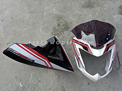 Cover Headlamp Alis LED + Undercowl model Universal Old CB150R White City