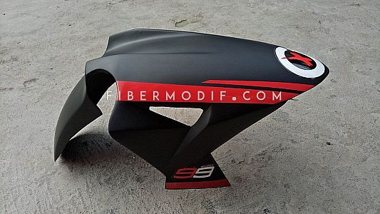 Slebor Depan model H2 - Black Red Track Flag Jorge Lorenzo X
