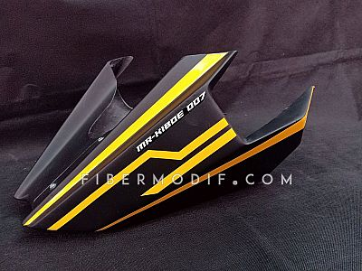 Cover Mesin CB150R Facelift - Black Yellow Lis Custom Nama