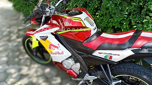 Fairing + Kondom Tangki model CBR250RR White Redbull for Vixion Lightning Advance