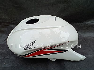 Kondom Tangki Verza 150 Custom White Gloss Red Striped