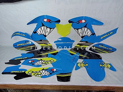 Decal CB150R APRILLIA Angry Blue Fish n Shark
