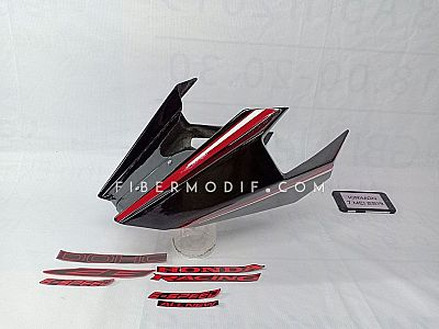 Undercowl CB150R Facelift Black Gloss Red Striped Sticker Terpisah