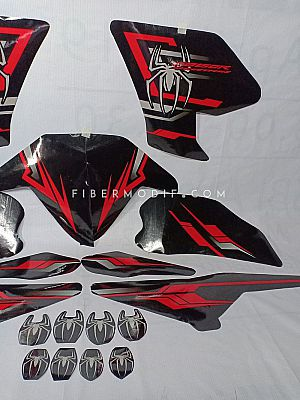 Laminated Decal for CB150R Facelift (2015+) - Black Red Rage Spider