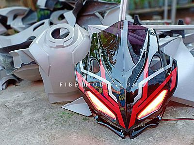 Cover Headlamp model CBR250RR untuk CBR150 K45G - Black Glossy Extraordinary Red n Simple White