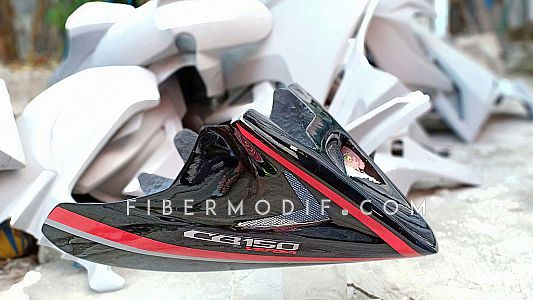 Undercowl CB150 Verza - Black Gloss Red Striped