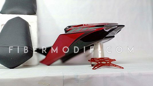 Body Belakang Set + Cover Arm All New Vixion R - Red Black Gray Revs Your Heart