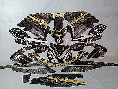 Decal Black Panther Wakanda Forever - All New Vixion - Glossy