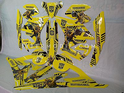 Decal Sticker Transformer Bumble Bee - Yellow Gloss - All New Vixion
