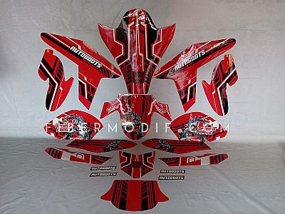 Decal Red Autobots Optimus Prime
