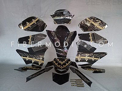 Decal Variasi Motor Full Body Black Panther