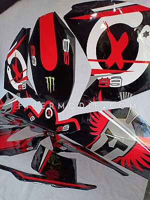 Full Sticker Decal Honda CBR250RR - Black Gloss Jorge Lorenzo Spartan