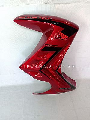 Half Fairing Mega Pro Monoshock - Red Gloss Black Striped HONDA RACING