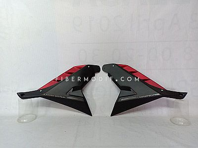 Middle Cowl All New Vixion - Black n Red Fin Matte LIMITED EDITION