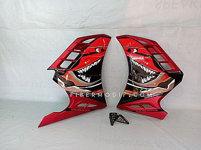 Half Fairing Vixion R New - Red Matte ANGRY SHARK