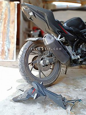 [Terpasang] Undertail Custom + Cover Headlamp model CBR250RR for CBR150R K45G K45N - Black Matte Hal